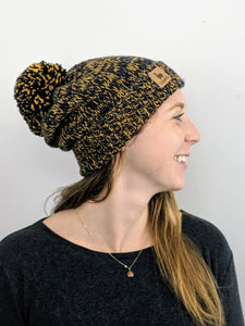 Beanie - Blue & Yellow