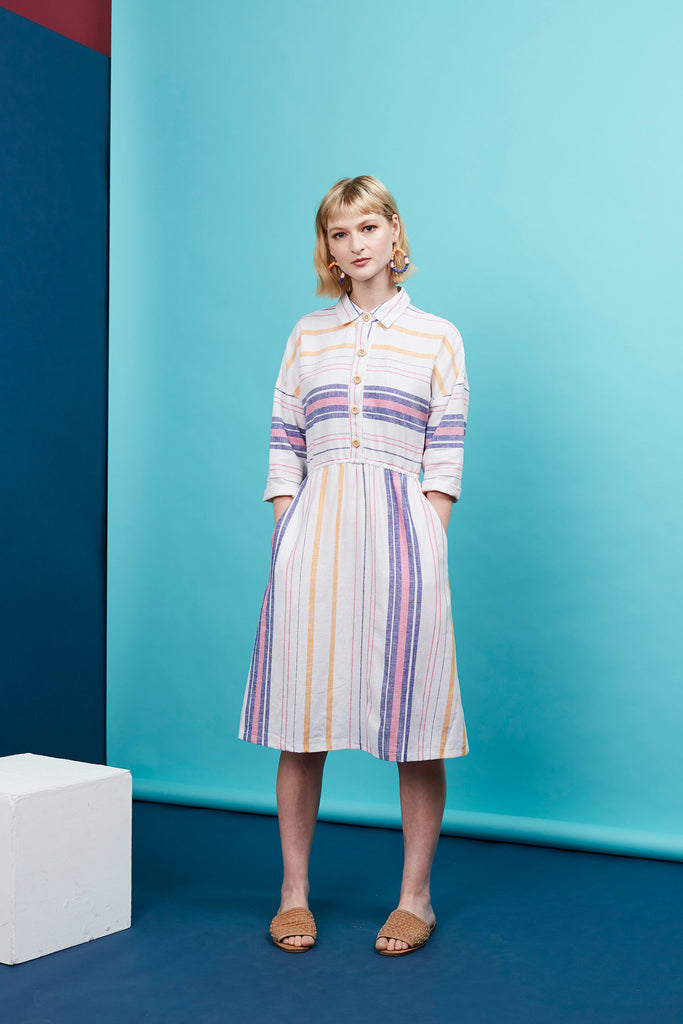 Rainbow Wrasse Buttonup Shirt Dress
