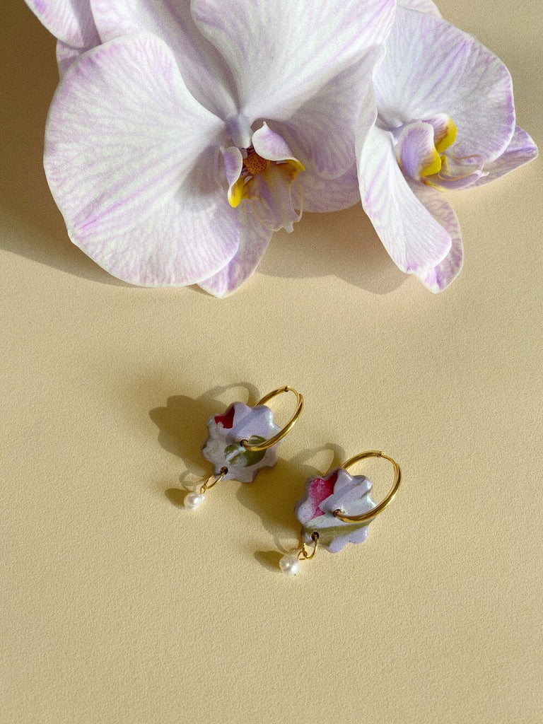 Floweret Earrings-Lavender