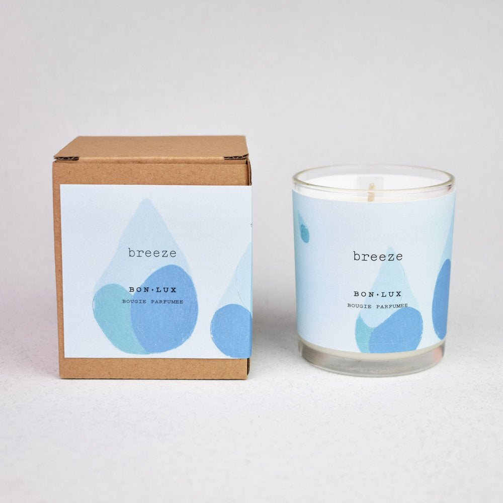 Boxed Votive Candle- Breeze
