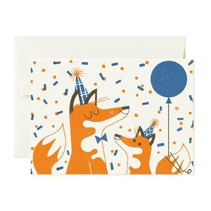Foxes - Card Nest