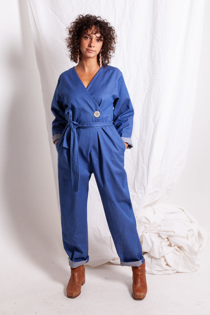 Cornflower Denim Jumpsuit