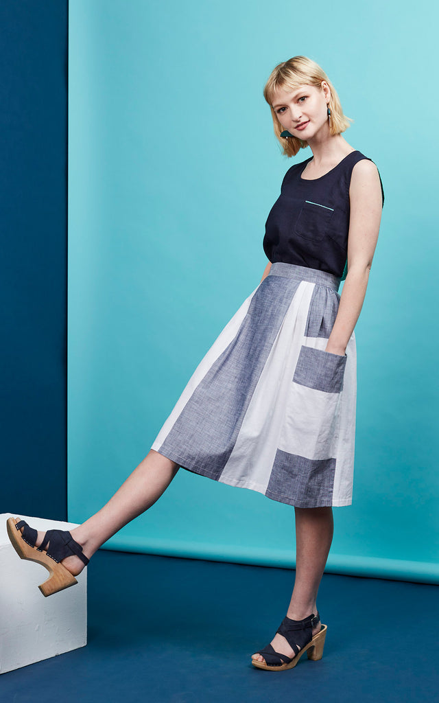 Fathom Wide Stripe Skirt