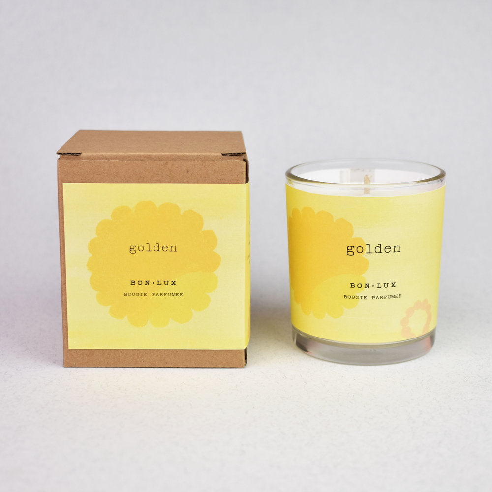 Boxed Votive Candle- Golden