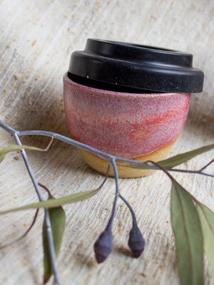 Pink Clay Travel Cup- Small