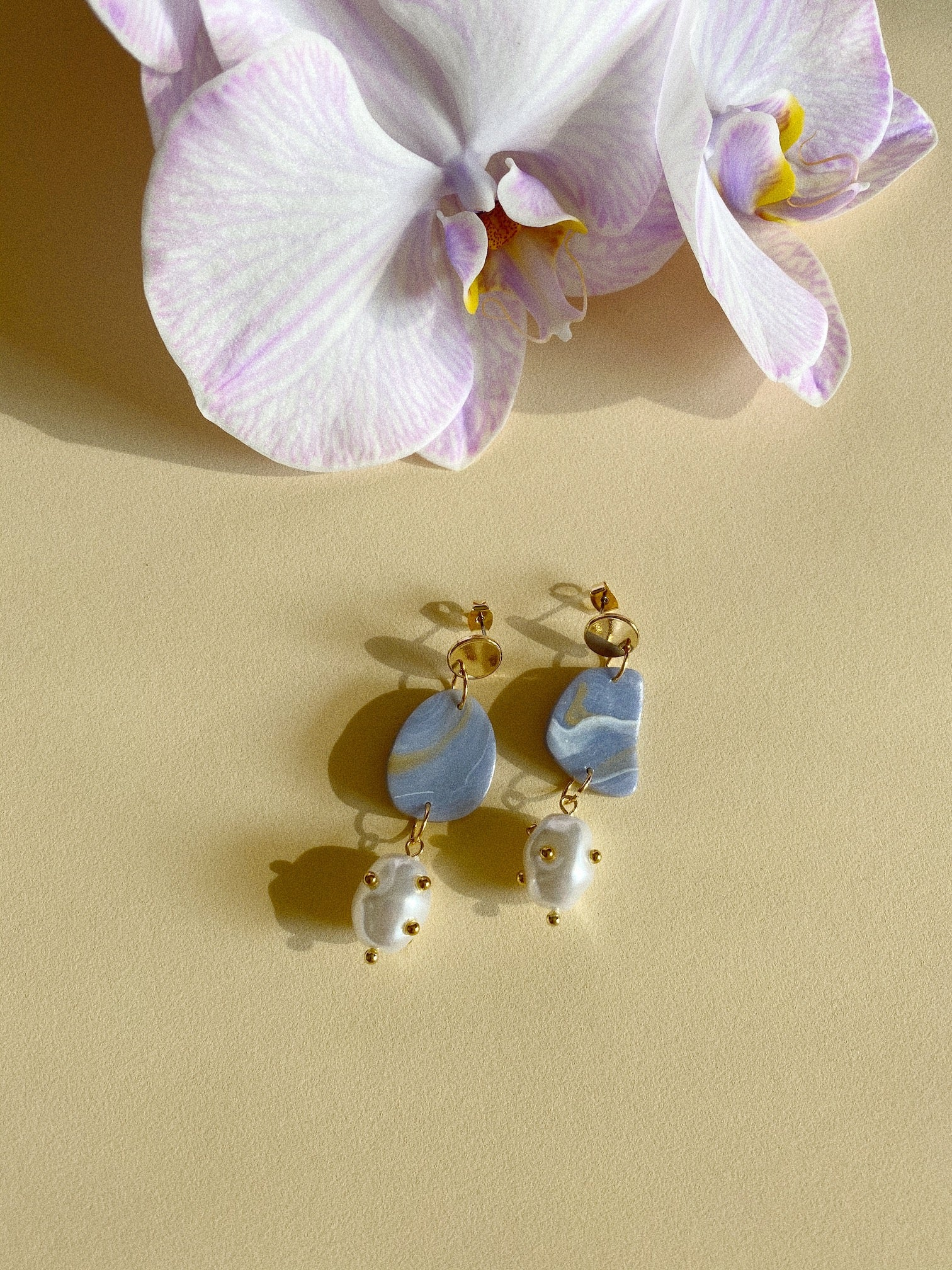 Kin Earrings- Violet Agate