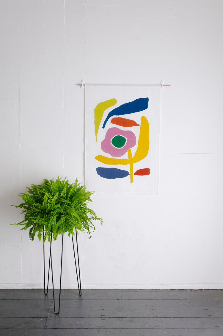 Claire Ritchie Fabric Wall Hanging- Let loose