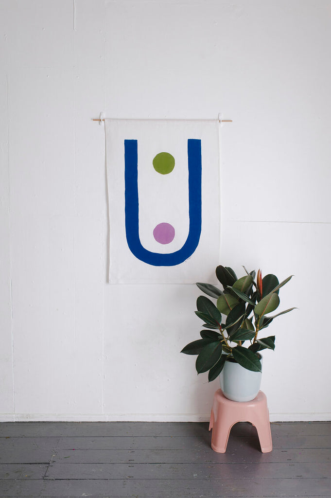 Claire Ritchie Fabric Wall Hanging- Chasm