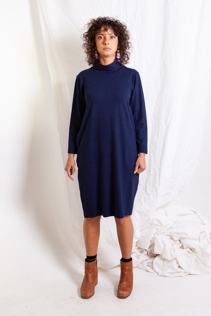 Navy Snug Dress