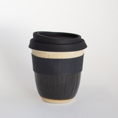 Kim Wallace Reusable Coffee Cup - Black Carved