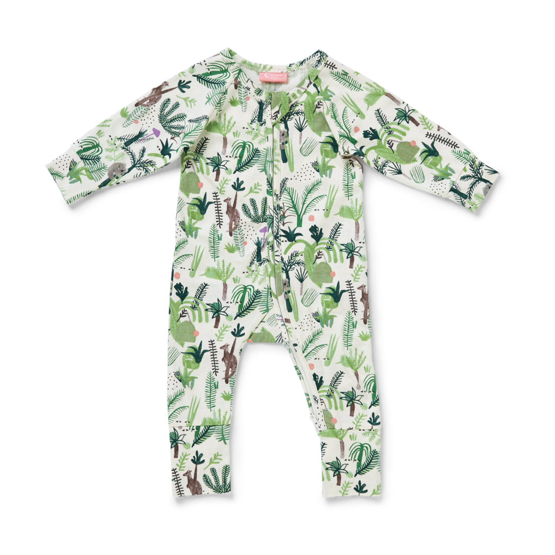 Long Sleeve Zip Suit - Fern Gully