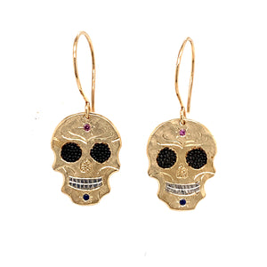 SKOR 14k Baby Skull Gold Earrings