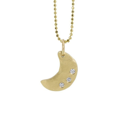 ALEM Small 14k Gold Moon Necklace