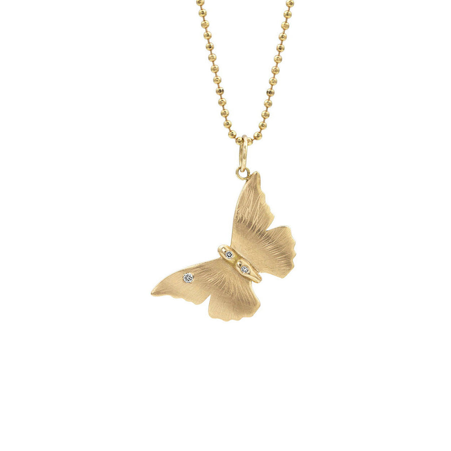 ANNA Small 14k Gold Butterfly Necklace