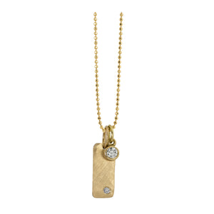 BEZI 14k Gold Baby Diamond Charm