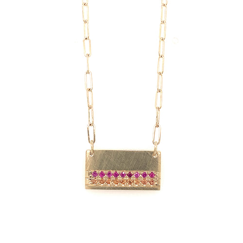 NEW! CAPI 14k Gold Sapphire Necklace