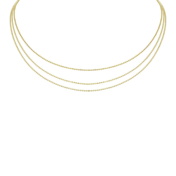 CHAI 14k Gold 3-Tiered Choker