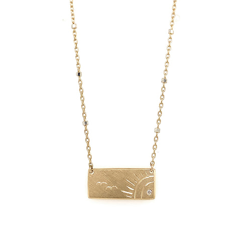 NEW! COCO 14k Gold Bar Necklace
