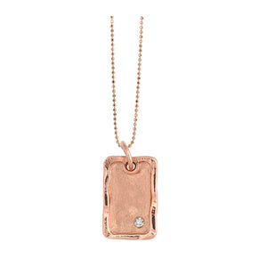 DANA 14k Gold Dog Tag Necklace