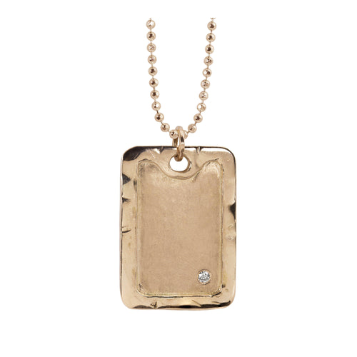 DANA 14k Gold XL Dog Tag