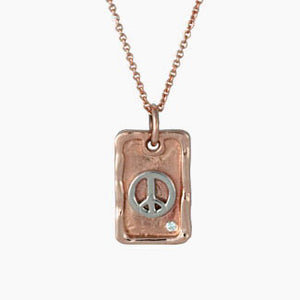 DANO 14k Gold Dog Tag Necklace