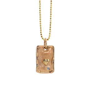 DAVO 14k Gold Dog Tag Necklace
