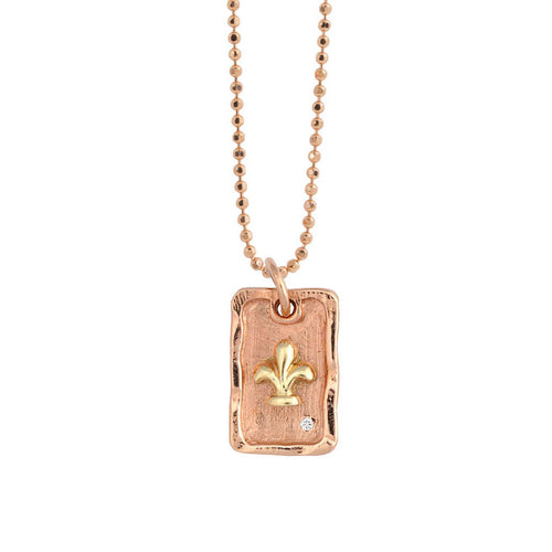 DAWN 14k Gold Dog Tag Necklace