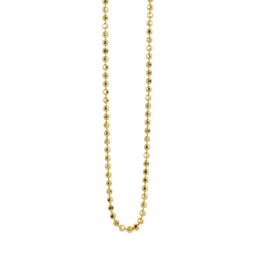 1.5mm 14k Gold Diamond Cut Ball Chain