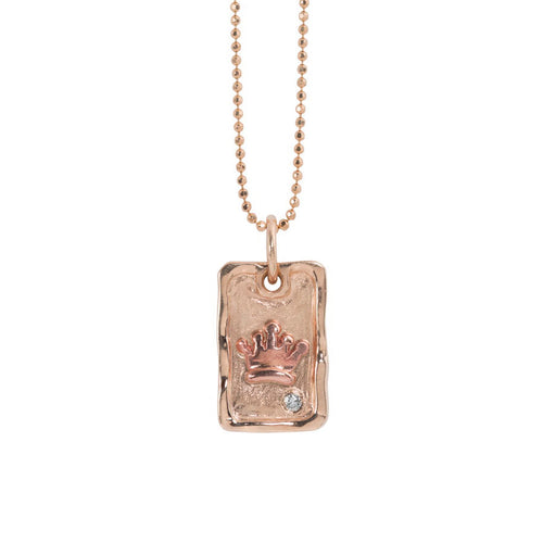 DEAN 14k Gold Dog Tag Necklace