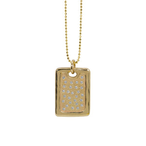 DEFT 14k Gold Large Dog Tag