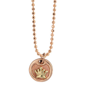 DEJA 14k Gold Dog Tag Necklace