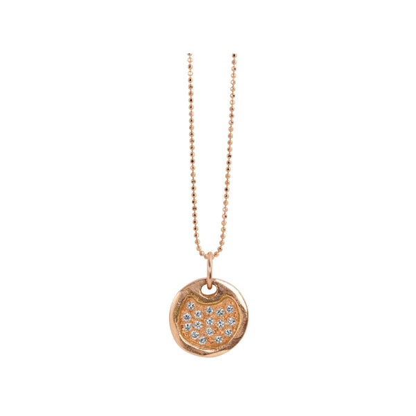 DENA 14k Gold Baby Round Dog Tag
