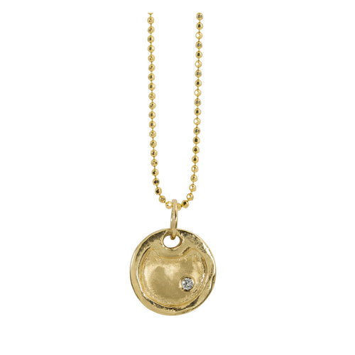 DODD 14k Gold Round Dog Tag