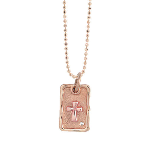 DOLO 14k Gold Dog Tag Necklace