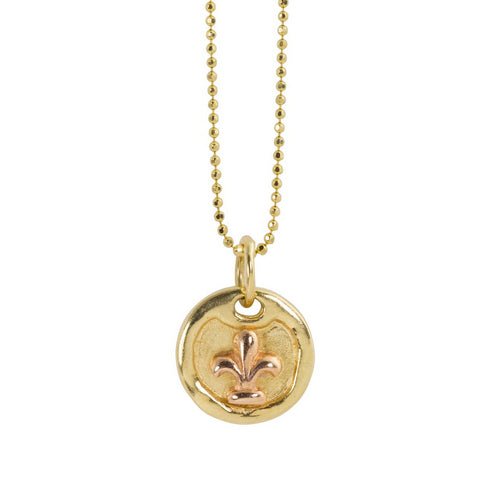 DORA 14k Gold Dog Tag Necklace