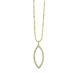 EDIE Small 14k Gold Diamond Eye Necklace