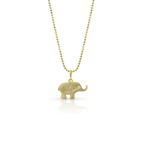 ELLO Baby 14k Gold Elephant Necklace