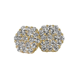 GAIL 14k Gold Diamond Cluster Earrings