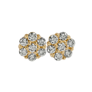 GALA 14k Gold Diamond Cluster Earrings
