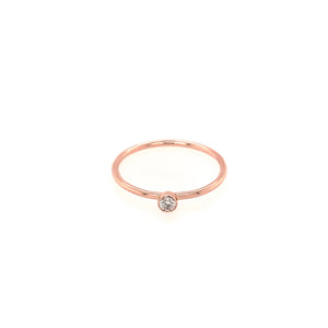GELE 14k Gold Diamond Stacker Ring