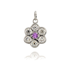 GENU 14K Gold Diamond Flower