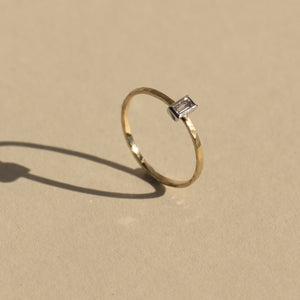 GELP 14k Gold Baguette Stacker Ring