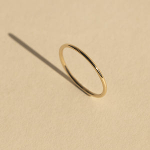 GELY 14k Gold Thin Stacker Ring