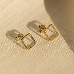 PESH 14k Gold Square Post Earrings