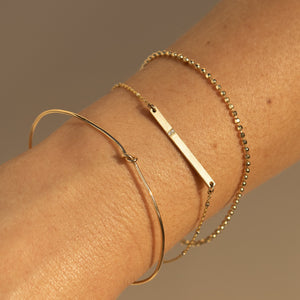 1.8mm 14k Gold Diamond Cut Bracelet