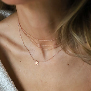 LAHA 14k Gold Star Necklace