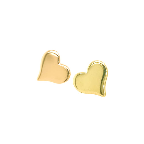 LAMO 14k Gold Heart Post Earrings