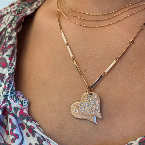 LAVA Medium 14k Gold Heart Necklace