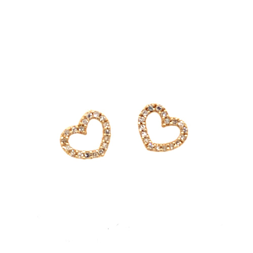 Floating Heart Charms for Hoops