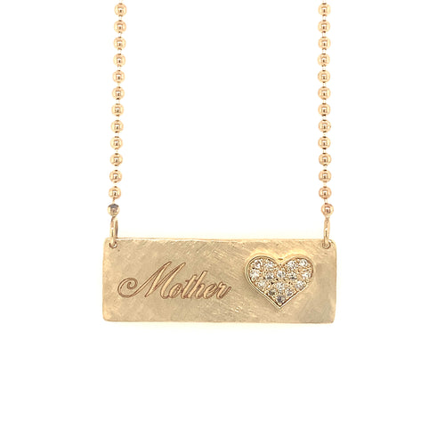 LIZZ 14k Gold Heart Necklace